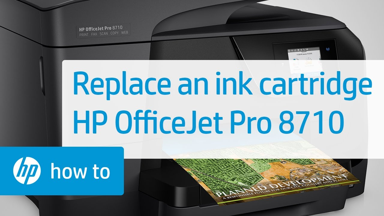 Replacing an Ink Cartridge in the HP OfficeJet Pro 8710 Printer | HP  OfficeJet | HP