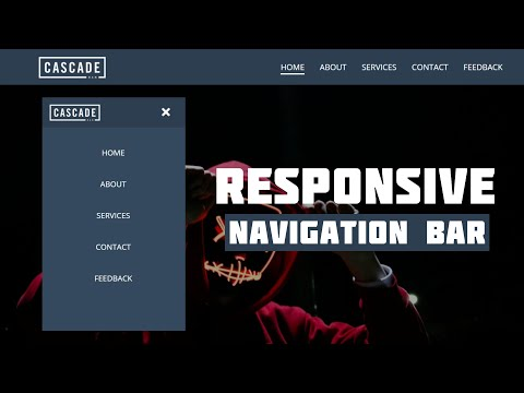 Responsive Navigation Menu Bar Using HTML & CSS   CSS Media Query