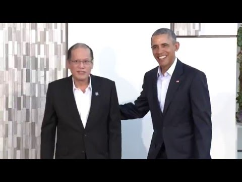 President Obama Greets Leaders of Association of Southeast Asian Nations