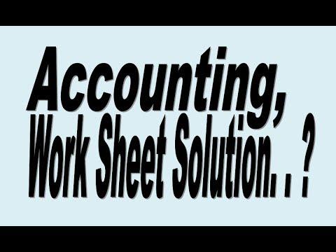 Principle of Accounting Work Sheet Preparation Masai Company