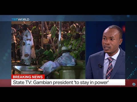 Gambia State TV: President 'to stay in power'