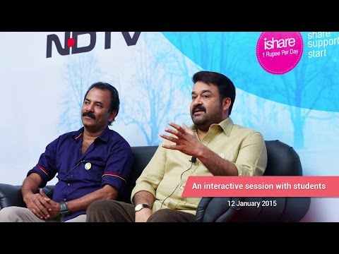 Mohanlal with ISHARE Students - An interactive Session