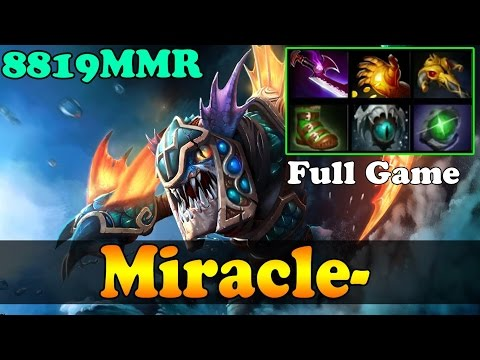 Dota 2 - Miracle- 8819MMR Plays Slark - Full Game - Road to 9k - Ranked Match