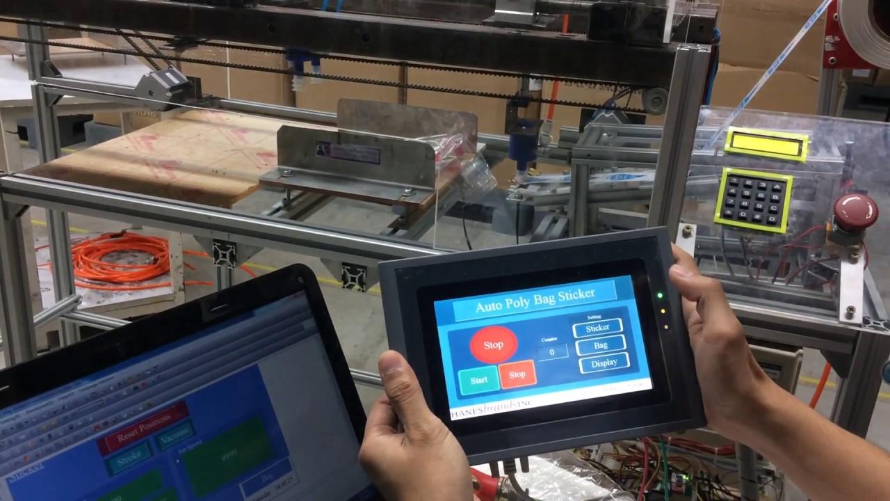 Auto sticker use Arduino with HMI SAMKOON