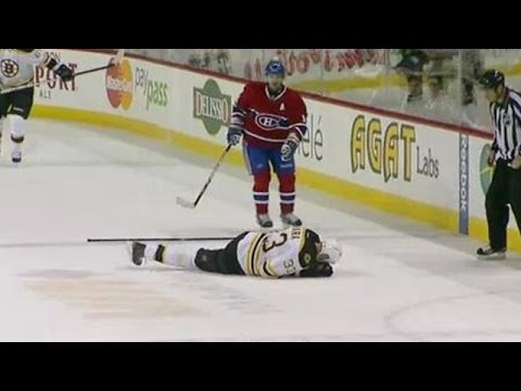 MUST SEE: Rene bourque hits zdeno chara