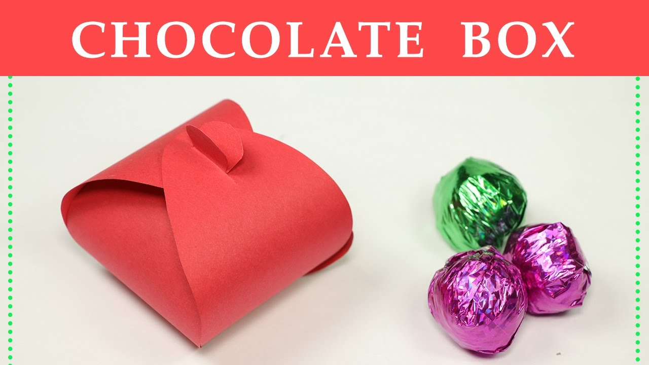 diy gift box how to make a small paper box for chocolate gift packing