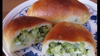 Пирожки с молодой капустой, зеленью и яйцом