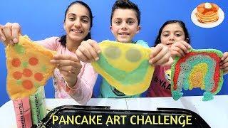 PANCAKE ART CHALLENGE!!! hzhtube kids fun