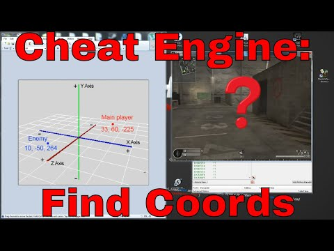 Cheat Engine Find coordinates XYZ TUTORIAL HD
