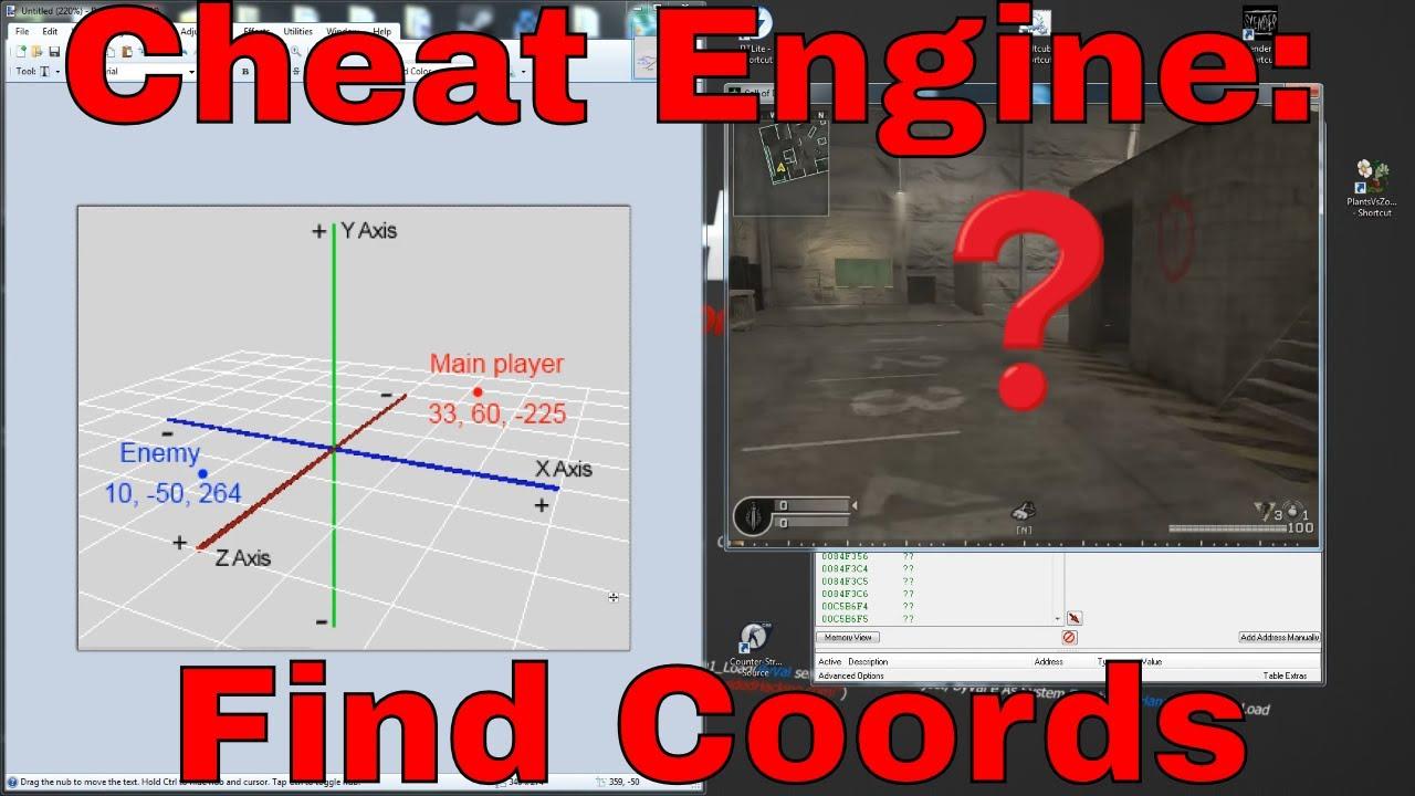 Cheat Engine Find coordinates XYZ TUTORIAL HD