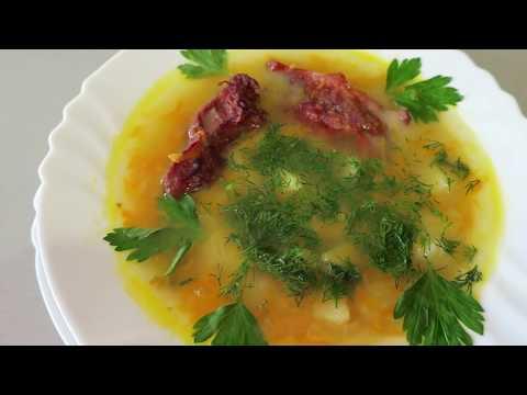 Вкуснейший гороховый суп с копчеными ребрышками