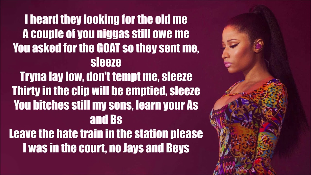 Nicki Minaj Barbie Goin Bad Lyrics Drake Meek Mill Diss Remix Youtube Music going bad lyrics 100% free! nicki minaj barbie goin bad lyrics drake meek mill diss remix