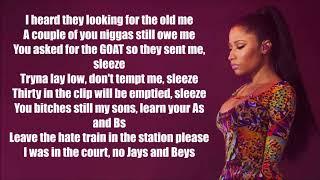Nicki Minaj - Barbie Goin Bad (Lyrics) (Drake & Meek Mill Diss) (Remix)