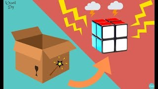 HOW TO MAKE A CARBOARD RUBIKS CUBE - KIDS DIY