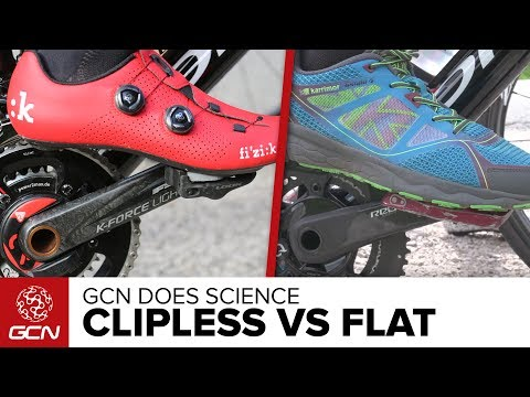 Clipless Pedals Vs Flat Pedals - Which Is Faster? | GCN Does Science