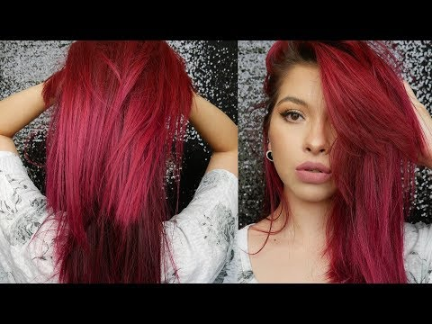How I Maintain My Magenta/Burgundy Red Hair & Keep It Healthy