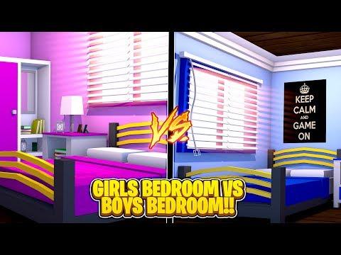 GIRLS BEDROOM VS BOYS BEDROOM! - Minecraft Challenge w/TinyTurtle