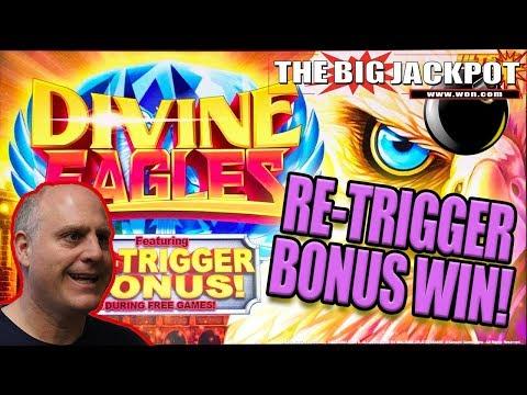 $20 SPINS / RE-TRIGGER 🦅BONUS JACKPOT on DIVINE EAGLES 🦅 | The Big Jackpot