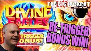 $20 SPINS / RE-TRIGGER 🦅BONUS JACKPOT on DIVINE EAGLES 🦅