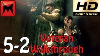 Resident Evil 5 Gold Edition Xbox360 Veteran Walkthrough Chapter 5-2 HD720p