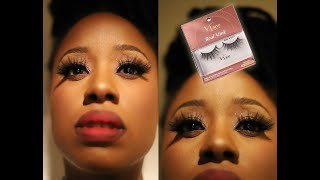 """Kiss i envy V-luxe Real Mink Lashes """"Rose or Gold"""" Big A@$ Lashes Reaction Video"""