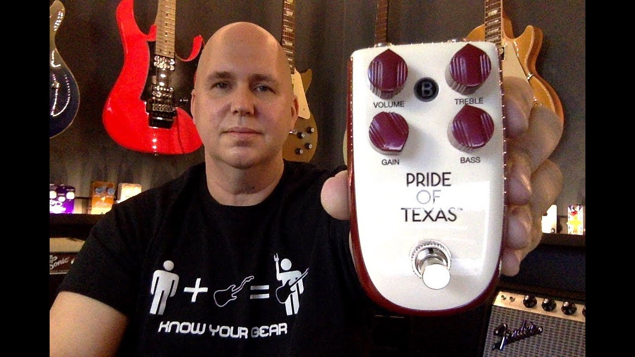 Danelectro Billionaire Overdrive Pride of Texas Effect Pedal BP-1