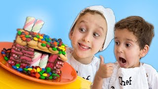CASA DE DOCES e Nutella para Crianças  - Aprenda as Cores - Learn Colors DIY Candy House for Kids