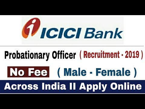 Jobs in Icici Bank  II PO Recruitment 2019 II How to Apply Online II Learn Technical