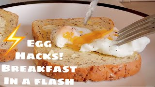 How to Poach egg in a Microwave ( Perfect Runny)| Egg HACKS