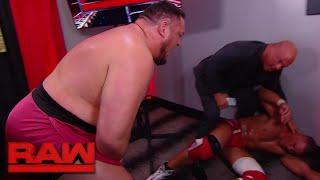 Samoa Joe ambushes Jason Jordan in Kurt Angle