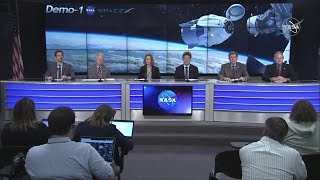 NASA TV - SpaceX DM-1 Post Flight Readiness Review Press Conference