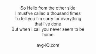 Adele Hello Karaoke Version - mp3 مزماركو تحميل اغانى