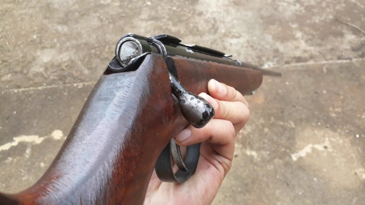 .22 lr  Homemade gun rifle ไทยประดิษฐ์ ลูกกรด .22