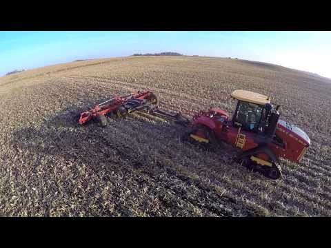 Versatile Delta Track 450 tractor pulling the all new Versatile Fury High Speed disk in Iowa