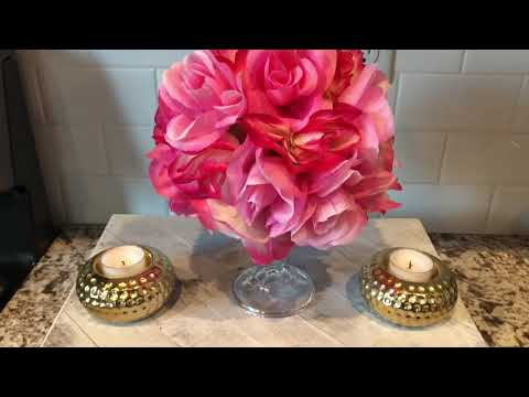 Valentine's Day floral DIY| Dollar tree Valentine's Day | Valentine's Day centerpiece