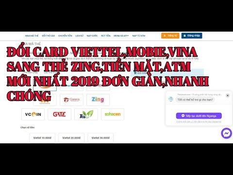Hướng Dẫn Đổi Card Điện Thoại Sang Card Zing, Tiền Mặt, ATM| Đổi Thẻ Cào Điện Thoại Sang Tiền Mặt