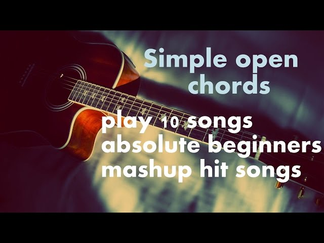 Simple Open Chords And Play 10 Hit Songs Guitar Acoustic Bollywood