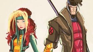 Sketches @ Midnight: X-Men Rogue & Gambit