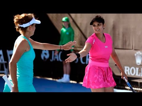 Sania Mirza-Barbora Strycova advance Rohan Boppana wins in doubles