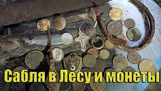 Сабля в лесу и монеты