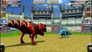 Tyrannosaurus VS Pachyrhinosaurus - Jurassic Park Builder JURASSIC Tournament Android Gameplay HD
