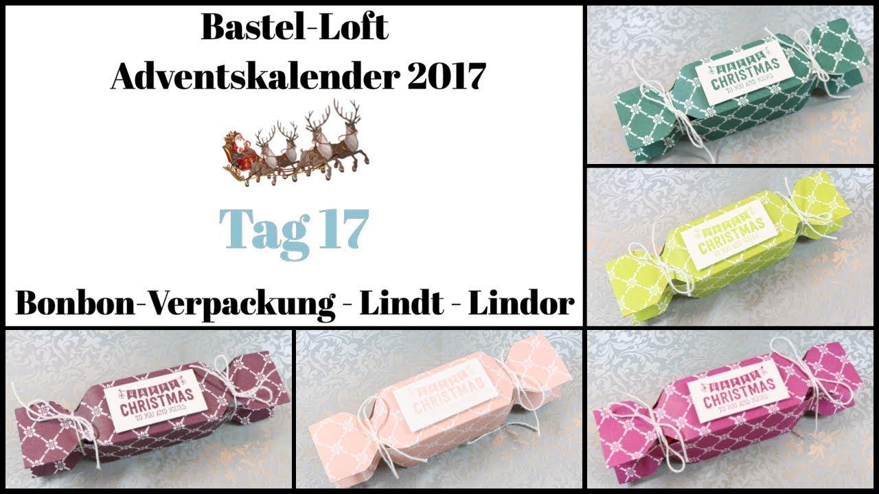 Lindor Weihnachtskalender.Adventskalender 2017 Tür 17 Bonbon Verpackung Lindor Kugeln Stampin Up