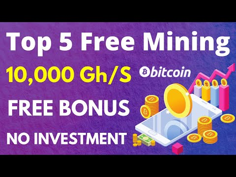 New Top 5 Free Bitcoin Cloud Mining Site Without Investment Payment Proof