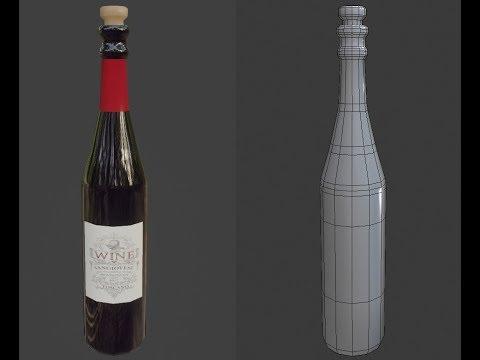 Wine Bottle 3D Blender Tutorial 2.8 thumbnail