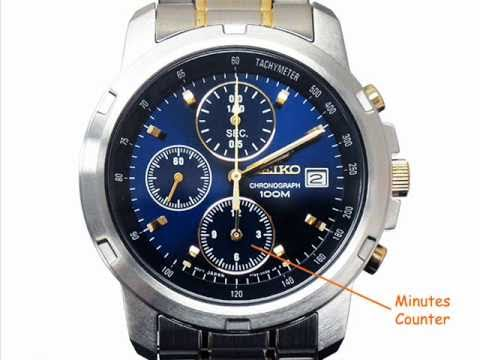 Simple Chronograph Operation Instructions Seiko SNDB05 - YouTube 071fde349823