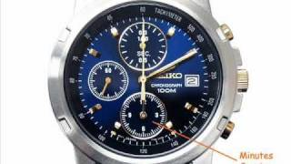 Simple Chronograph Operation Instructions Seiko SNDB05