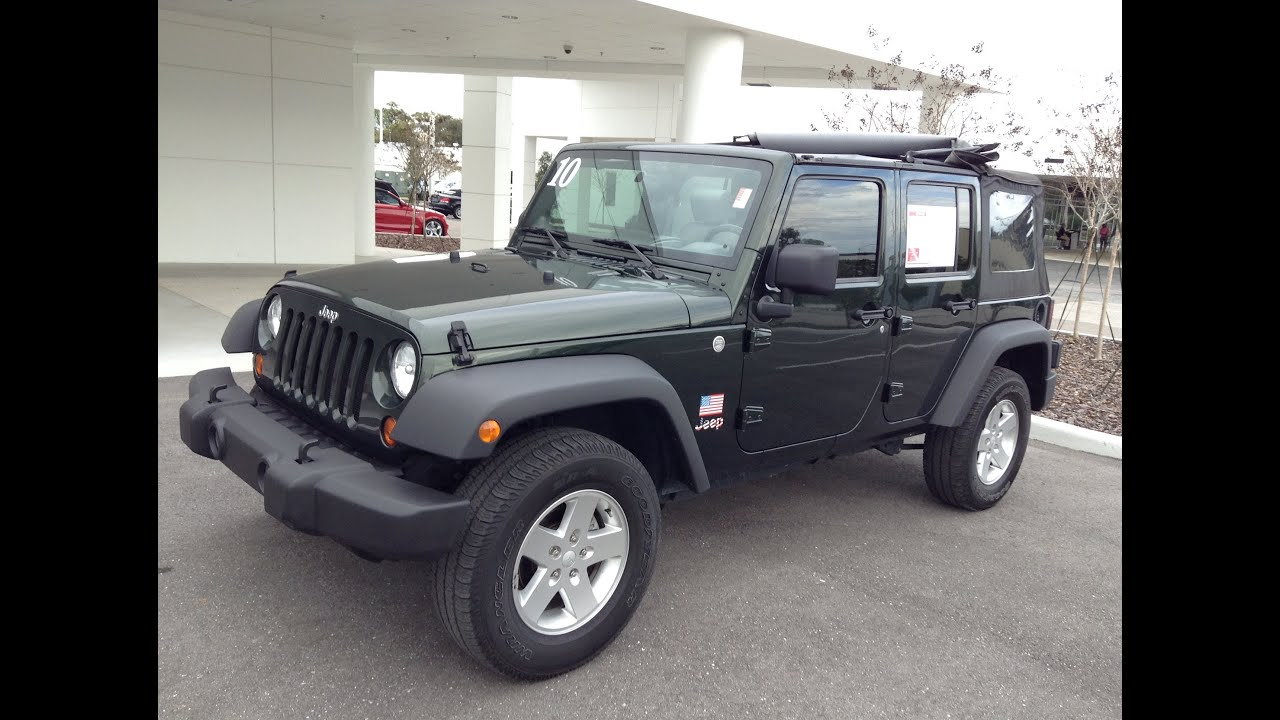 pre owned 2010 jeep wrangler unlimited 4x4 sport for sale in tampa bay florida call for price. Black Bedroom Furniture Sets. Home Design Ideas