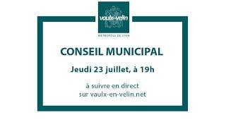 Conseil municipal<br/>23 juillet 2020