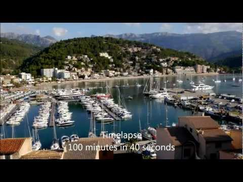Time-lapse Port Soller Harbour and Waterfront, Majorca