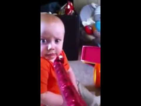 Baby meets Party Horn